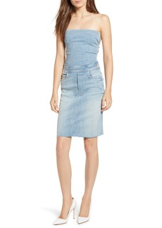 Mother Denim MOTHER The Tie Back Frayed Denim Dress