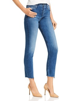 Mother Denim MOTHER The Tomcat Ankle Fray Straight-Leg Jeans in Watch Me