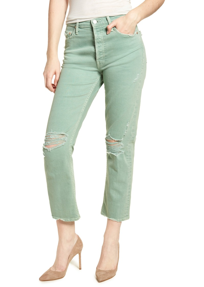 a6d287ec06 Mother Denim MOTHER The Tomcat Chew Ripped Crop High Waist Jeans | Denim