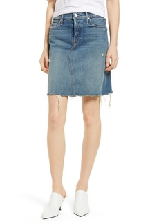 Mother Denim MOTHER The Tomcat Fray Denim Skirt (Playing Dirty)