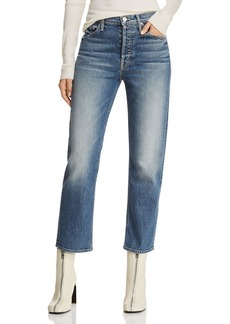 Mother Denim MOTHER The Tomcat High-Rise Straight-Leg Jeans in We All Scream