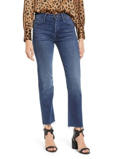 Mother Denim MOTHER The Tomcat High Waist Fray Ankle Straight Leg Jeans (Watch Me)