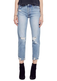 Mother Denim MOTHER The Tomcat Ripped Crop Straight Leg Jeans (We All Scream)