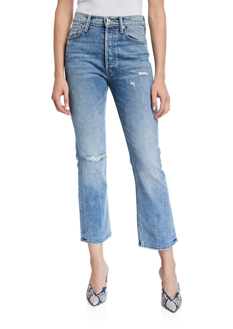 Mother Denim MOTHER The Tripper High-Rise Distressed Ankle Jeans