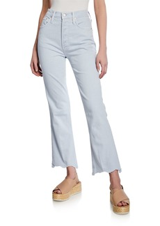 Mother Denim MOTHER The Tripper High-Rise Jeans w/ Chewed Hem