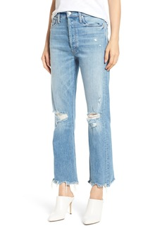 Mother Denim MOTHER The Tripper Ripped Ankle Flare Jeans (Misbeliever)