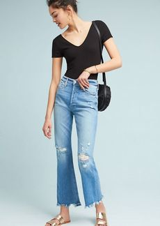 Mother Denim MOTHER The Tripper Ultra High-Rise Cropped Flare Jeans