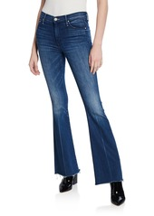 Mother Denim MOTHER The Weekender Frayed Boot-Cut Jeans