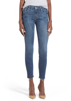 Mother Denim MOTHER 'TheLooker'Frayed Ankle Jeans (Girl Crush)