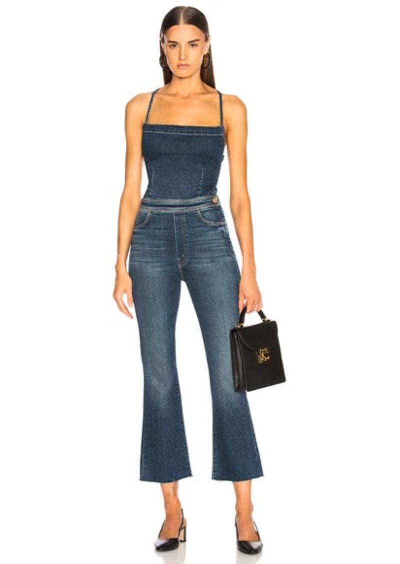 outlet boutique various design sold worldwide MOTHER Tie Back Hustler Ankle Fray Jumpsuit