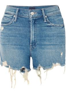 Mother Denim Rascal Distressed Denim Shorts