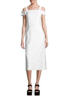 Mother Denim Rowena Cold-Shoulder Dress