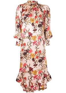 Mother Denim ruffle hem floral dress