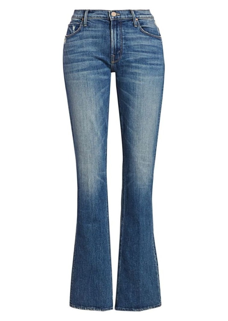 Mother Denim Runaway High-Rise Distressed Bootcut Jeans