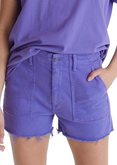 Mother Denim Shaker Cropped Jean Shorts