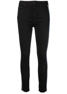 Mother Denim side stripe skinny trousers