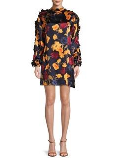 Mother Denim Silk Floral Shift Dress