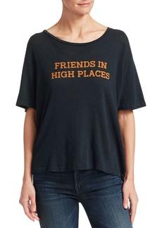 Mother Denim Sinful Cotton-Linen T-Shirt