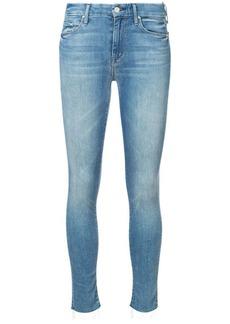 Mother Denim skinny raw hem jeans