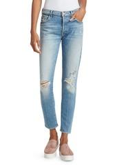 Mother Denim Stinger Flood Distress Jeans