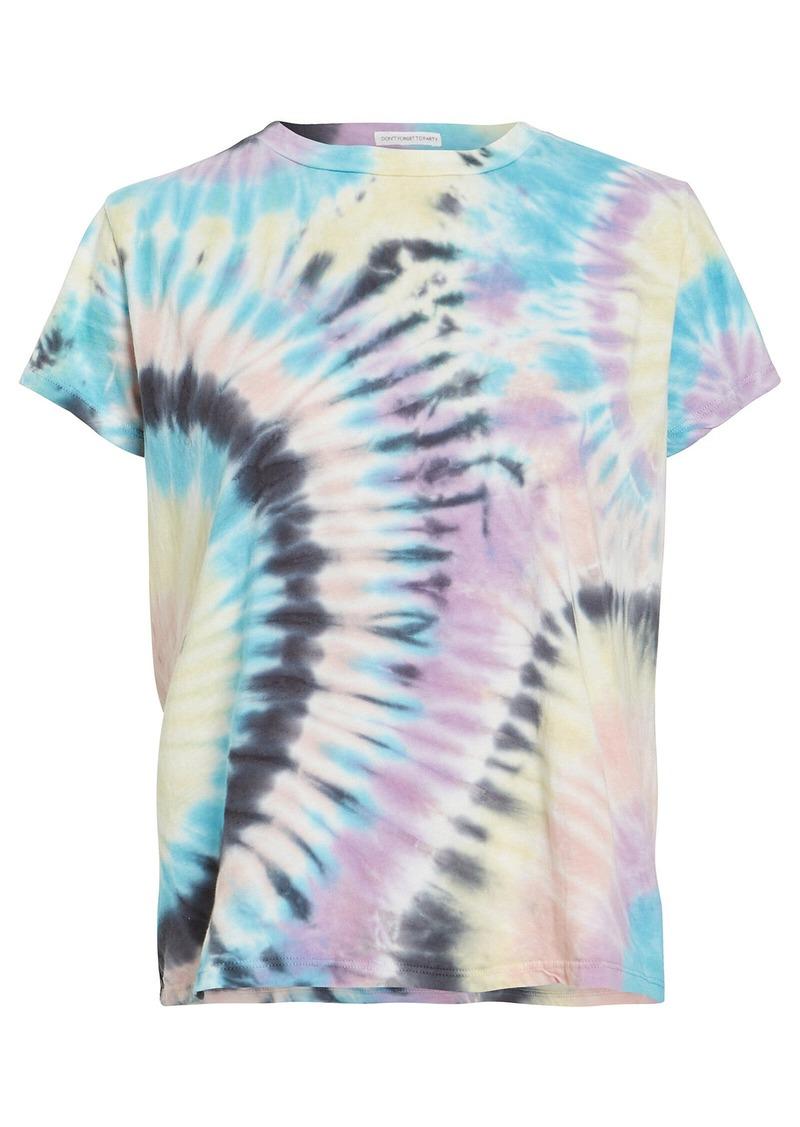 Mother Denim The Boxy Goodie Goodie Tie-Dye T-Shirt