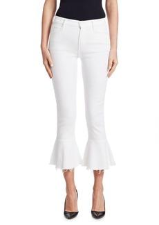 Mother Denim The Cha Cha Frayed Ruffle Hem Jeans
