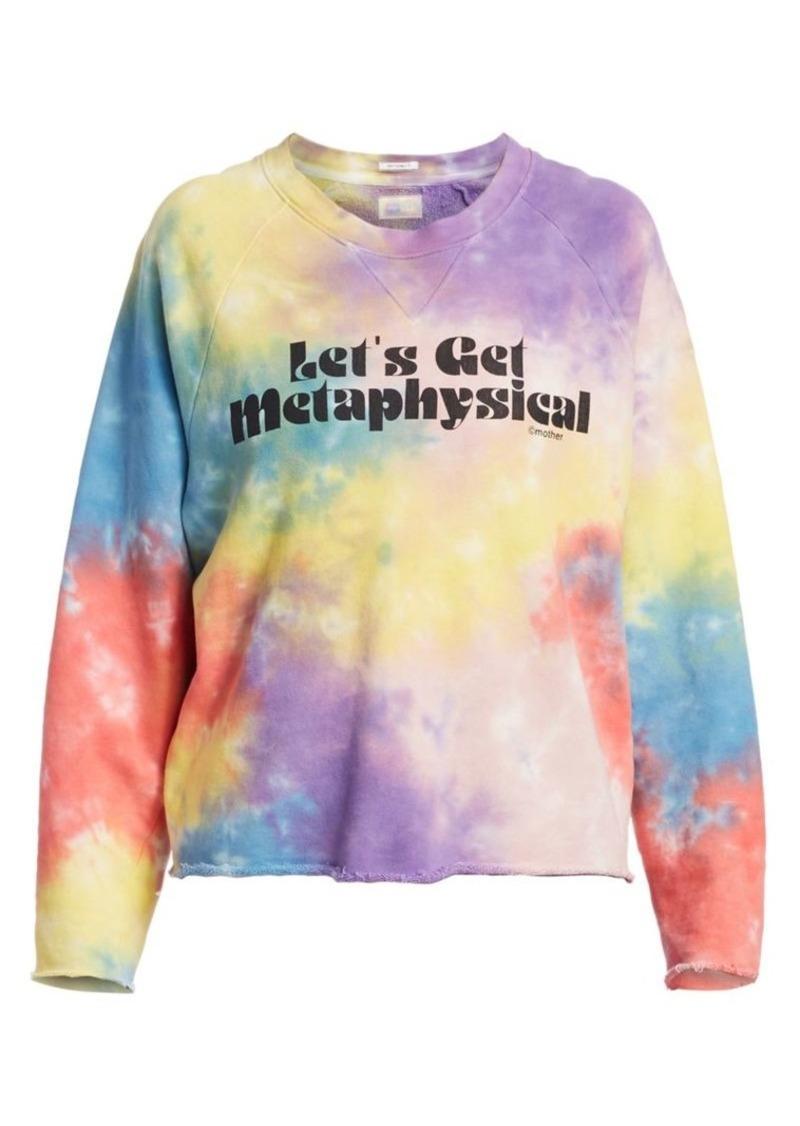 Mother Denim The Champ Crop Raw Rainbow Tie Dye Sweatshirt
