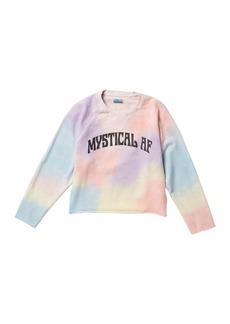 Mother Denim The Champ Crop Raw Sweatshirt