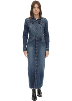 Mother Denim The Cover Up Cotton Denim Midi Dress