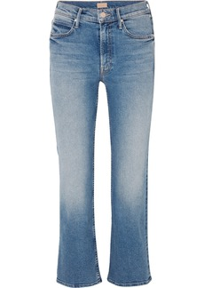 Mother Denim The Dutchie Cropped Mid-rise Flared Jeans