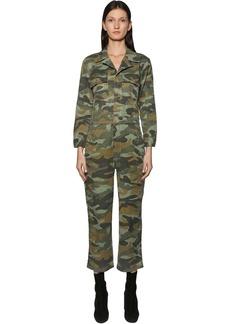 Mother Denim The Fixer Camo Cotton & Linen Jumpsuit