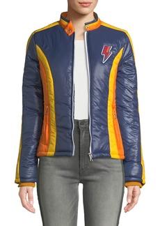 Mother Denim The High Flyer Zip-Front Puffer Jacket