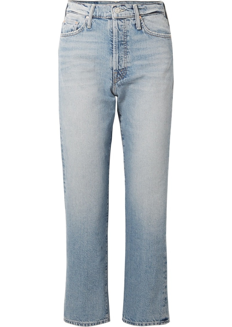 Mother Denim The Huffy Flood Cropped High-rise Straight-leg Jeans