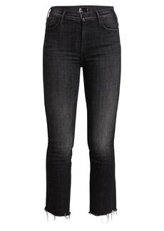 Mother Denim The Hustler Ankle Fray Jeans