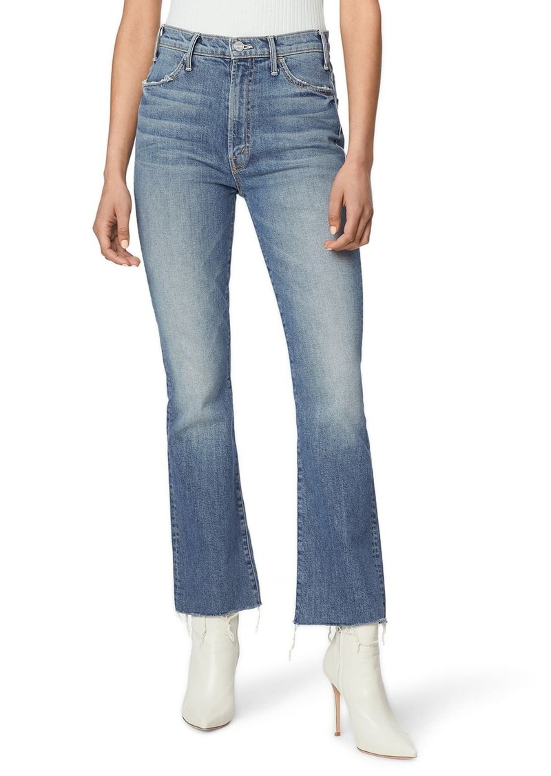 Mother Denim The Hustler High Waist Fray Ankle Flare Jeans