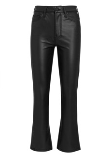 Mother Denim The Insider Ankle Faux Leather Jeans