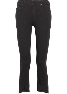 Mother Denim The Insider Crop High-rise Flared Jeans