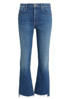 Mother Denim The Insider Crop Step Fray Jeans