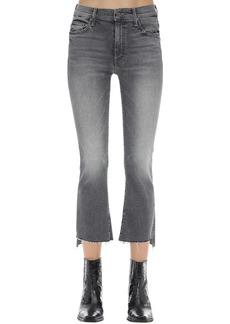 Mother Denim The Insider Cropped Stretch Denim Jeans