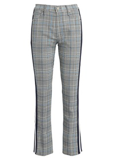 Mother Denim The Insider Plaid Ankle Jeans