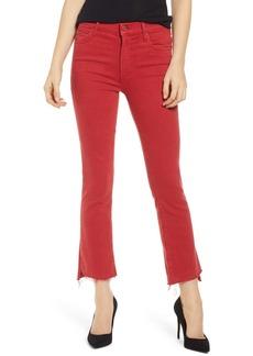 Mother Denim The Insider Step Hem Crop Jeans (Dark Olive)