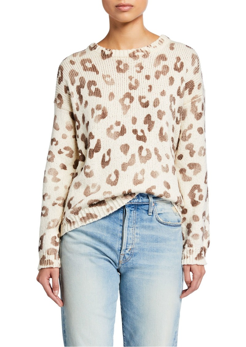 Mother Denim The Jumper Leopard-Print Sweater