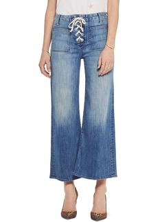 Mother Denim The Lace Up Crop Flare Jeans