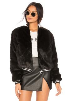 Mother Denim The Letterman Faux Fur Jacket