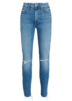 Mother Denim The Looker Ankle Fray Skinny Jeans