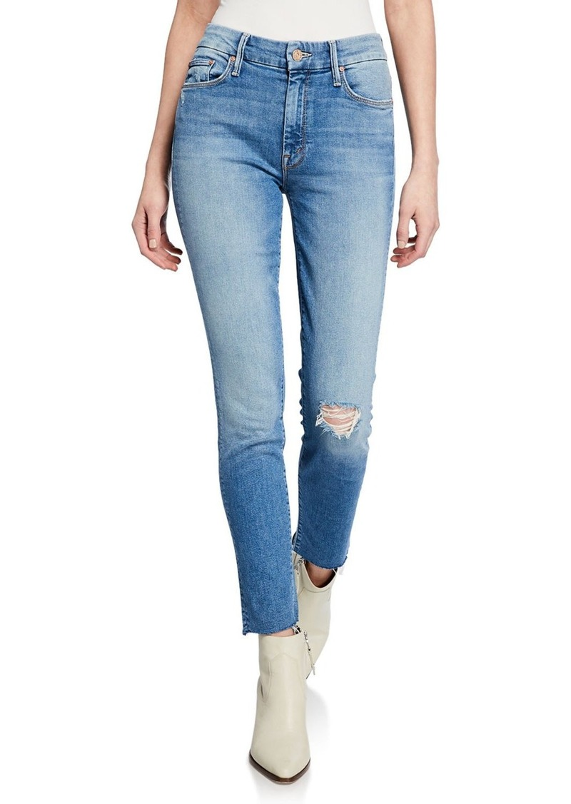 Mother Denim The Looker Ankle Skinny Frayed Jeans