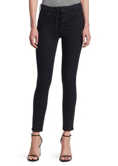 Mother Denim Looker Ankle Lace-Up Jeans