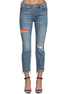 Mother Denim The Mid Rise Button Fly Denim Jeans