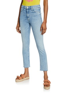 Mother Denim The Mid-Rise Dazzler Ankle Fray Jeans