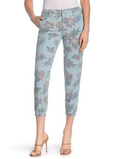 Mother Denim The No Zip Misfit Floral Print Pants